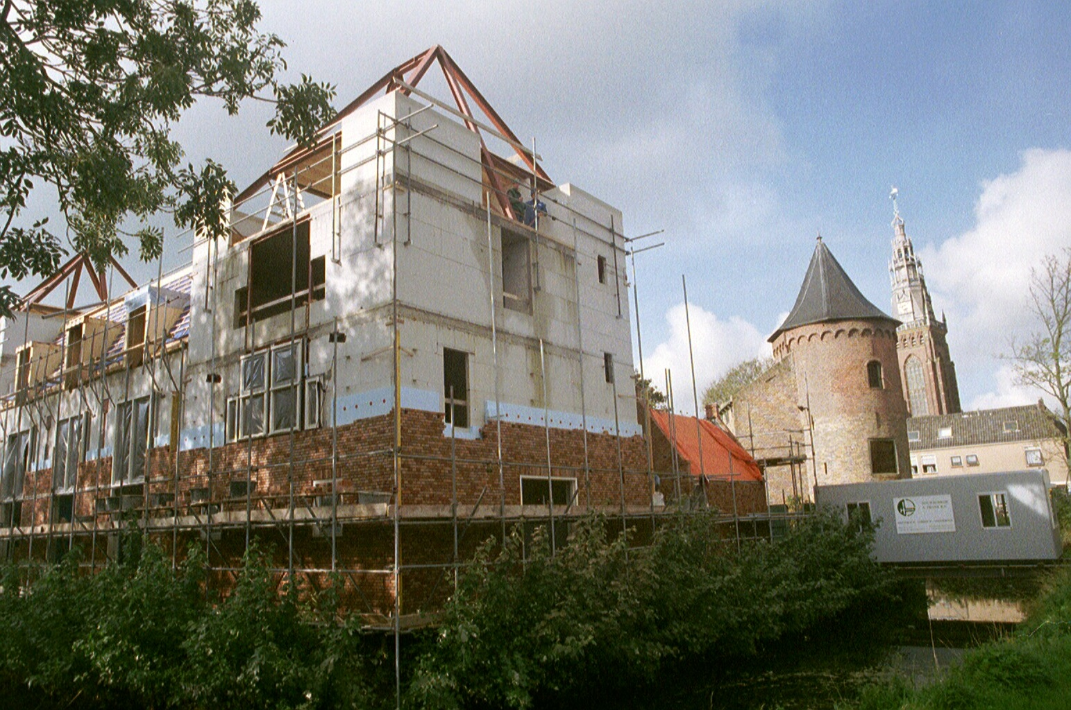 De herbouw in volle gang