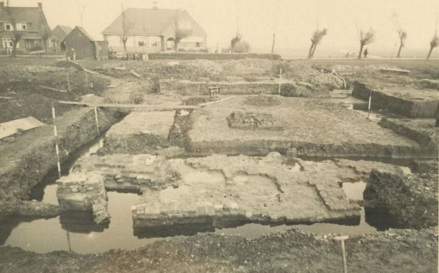 The excavated foundations of Middelburg Castle.