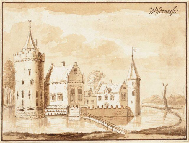 Artist's impression of Wijdenes Castle.